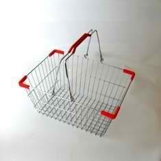 Покупательская корзина из металла 10 л.
