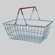 Покупательская металлическая корзина 20 л. цинк.