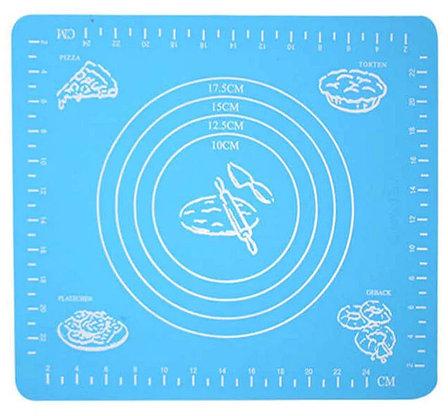Силиконовый кулинарный коврик 40х50 см, цвет голубой, фото 2