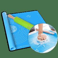 Силиконовый кулинарный коврик 40х50 см, цвет голубой