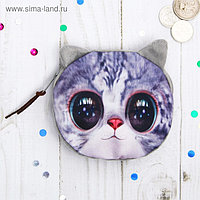 Мягкий кошелёк «Киска», большие глаза