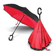 Умный зонт Наоборот, цвет красный + черный
