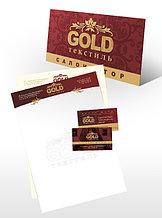Визитки Gold (золотой текст и изображение)
