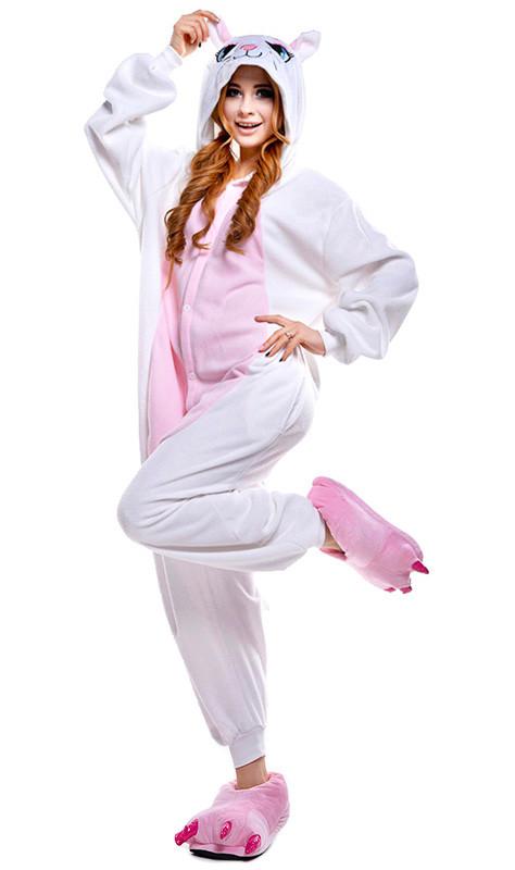 Кигуруми Кошка бело-розовая