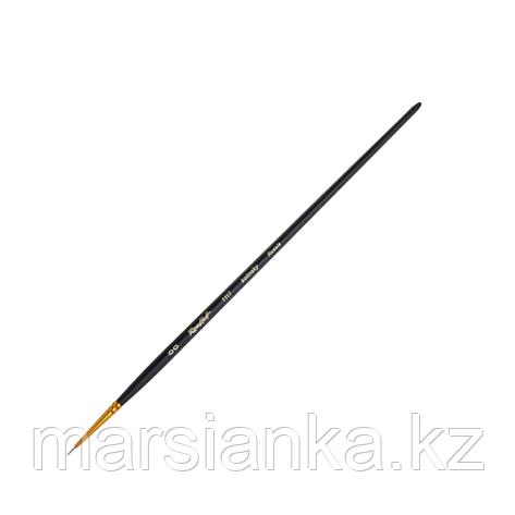 Кисть (колонок) кр.кор. черная ручка, фигурная Roubloff №00, фото 2