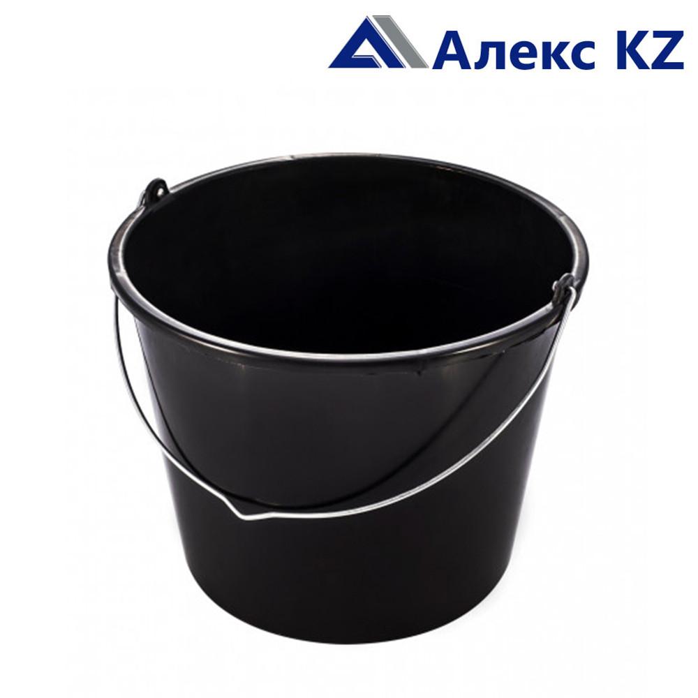 Ведро пластмассовое строительное чёрное 12 л.