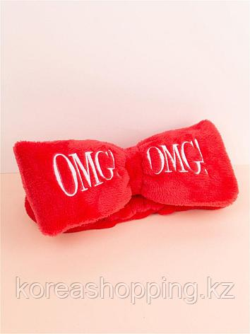 Красный Бант-повязка для фиксации волос во время косметических процедур Double Dare OMG! HAIR BAND (ОРИГИНАЛ), фото 2