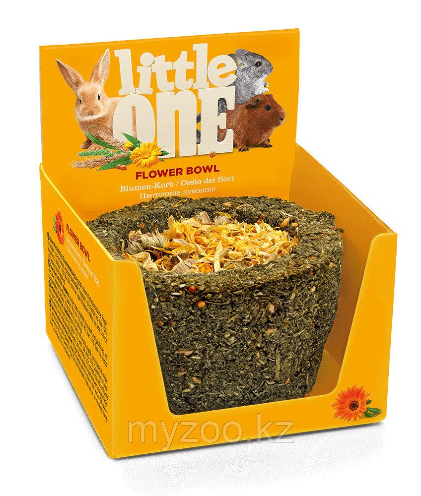 Little one Цветочное лукошко 120 гр. |Лакомство для всех видов грызунов|