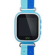Детские смарт-часы Q80 1.44, цвет голубой + синий, фото 2