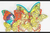Вафельные бабочки цветные с рисунком микс