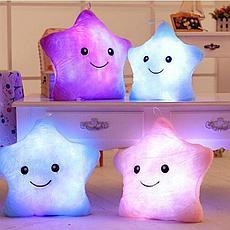 Светящаяся плюшевая подушка с функцией воспроизведения, цвет розовый, фото 3