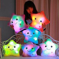 Светящаяся плюшевая подушка с функцией воспроизведения, цвет белый, фото 3