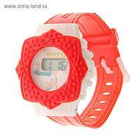 Часы наручные электронные «Лепестки», детские, с силиконовым ремешком, микс