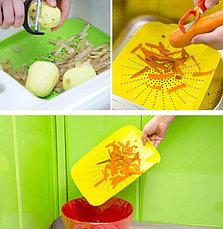 Пластиковый коврик-дуршлаг для раковины, цвет салатовый, фото 3