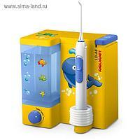 Ирригатор полости рта Aquajet LD-А8, стационарный, 500 мл, 4 режима, 5 насадок, жёлтый