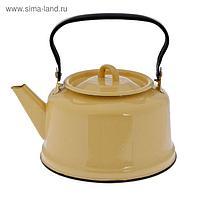 Чайник 3,5 л, эмалированная крышка, закатное дно, цвет бежевый