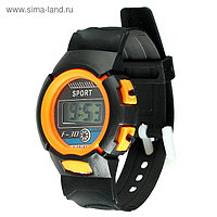"""Часы наручные детские """"Спорт"""", электронные, ремешок силикон, микс, l=23 см"""