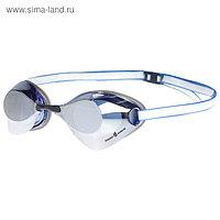Очки для плавания стартовые Turbo Racer II Mirror, M0458 07 0 03W, цвет голубой