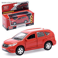 Машина металлическая HONDA CR-V, 12 см, инерционная, цвет красный