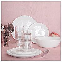 ОФТАСТ Тарелка десертная, белый, фото 1