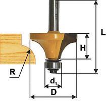 Фреза кромочная калевочная (17х8 мм; R 2,4 мм; хвостовик 8 мм) по дереву Энкор