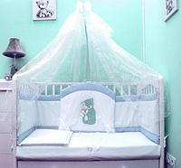 Комплект в кровать Балу Спокойной ночи голубой 7пр.