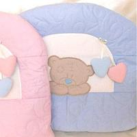 Комплект в кровать Балу Тедди голубой 7пр.