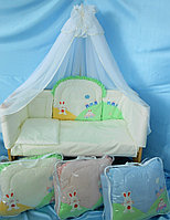 Комплект в кроватку Веселое Путешествие голубой 7пр