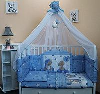 Комплект в кроватку Балу Загадка голубой 7 пр