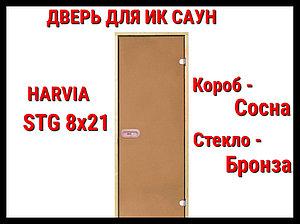 Дверь для инфракрасной сауны Harvia Stg 8x21 (Короб - Сосна)