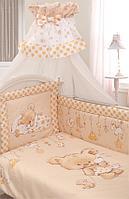 Комплект в кровать Золотой гусь Mika молочный