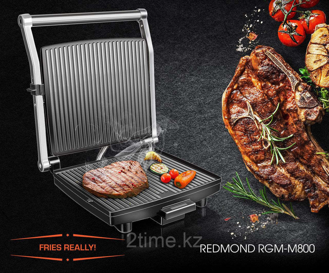 Гриль REDMOND SteakMaster  RGM-M800, черный/сталь
