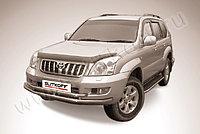 Защита переднего бампера d57+d57 Toyota Land Cruiser Prado 120 2003-09