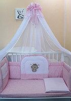 Комплект в кровать Балу Ежик Васютка розовый 7пр., фото 1
