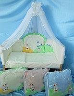 Комплект в кроватку Веселое Путешествие голубой 7пр, фото 1