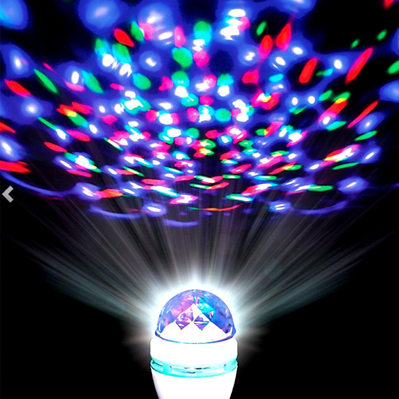Светодиодная вращающаяся диско лампа
