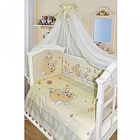 Комплект в кровать Золотой гусь ОВЕЧКА НА ЛУНЕ (7 предметов) цвет молочный