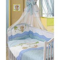 Комплект в кровать Золотой гусь Улыбка (7 предметов) голубой