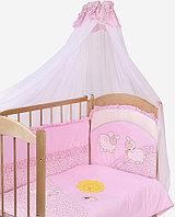 Комплект в кровать Золотой гусь Веселые овечки 7пр. розовый