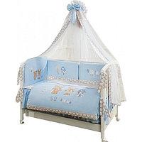 Постельное белье Perina Венеция Лапушки голубой 7 предметов