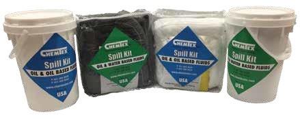 Набор автомобильный SPILL KIT в прозрачном PE пакете или в контейнере, впитывает 19L/75Gal разлива масла
