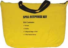 Набор  автомобильный SPILL KIT в прочной желтой сумке, впитывает 19L / 5Gal разлива масла