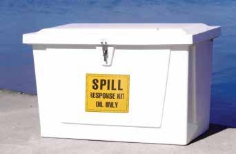 Набор  SPILL KIT Marine Dock Box впитывает 86Gal 325 литров разлива Oil