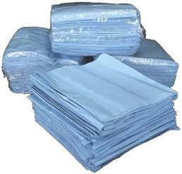 Салфетки из синего спанлейса