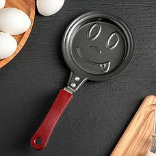 Фигурная мини-сковорода Смайлик, фото 3