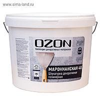 """Штукатурка декоративная OZON """"Марокканская 40"""" акриловая 8 кг"""