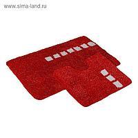 Набор ковриков Roma 2 шт, цвет красный