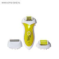 """Эпилятор-бритва-пемза """"3в1""""LuazON LEP-02,3Вт,220В и аккумулятор (тройной зажим),бритва,пемза"""