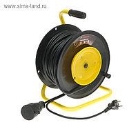 Удлинитель для садовой техники TUNDRA, 1 розетка, 50 м, 16 А, ПВС 3х1.5 мм2, IP44, ГОСТ