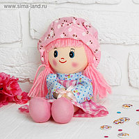 Мягкая кукла «Девочка», панамка в горошек, цвета МИКС